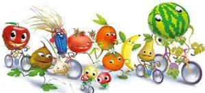 frutta in bici