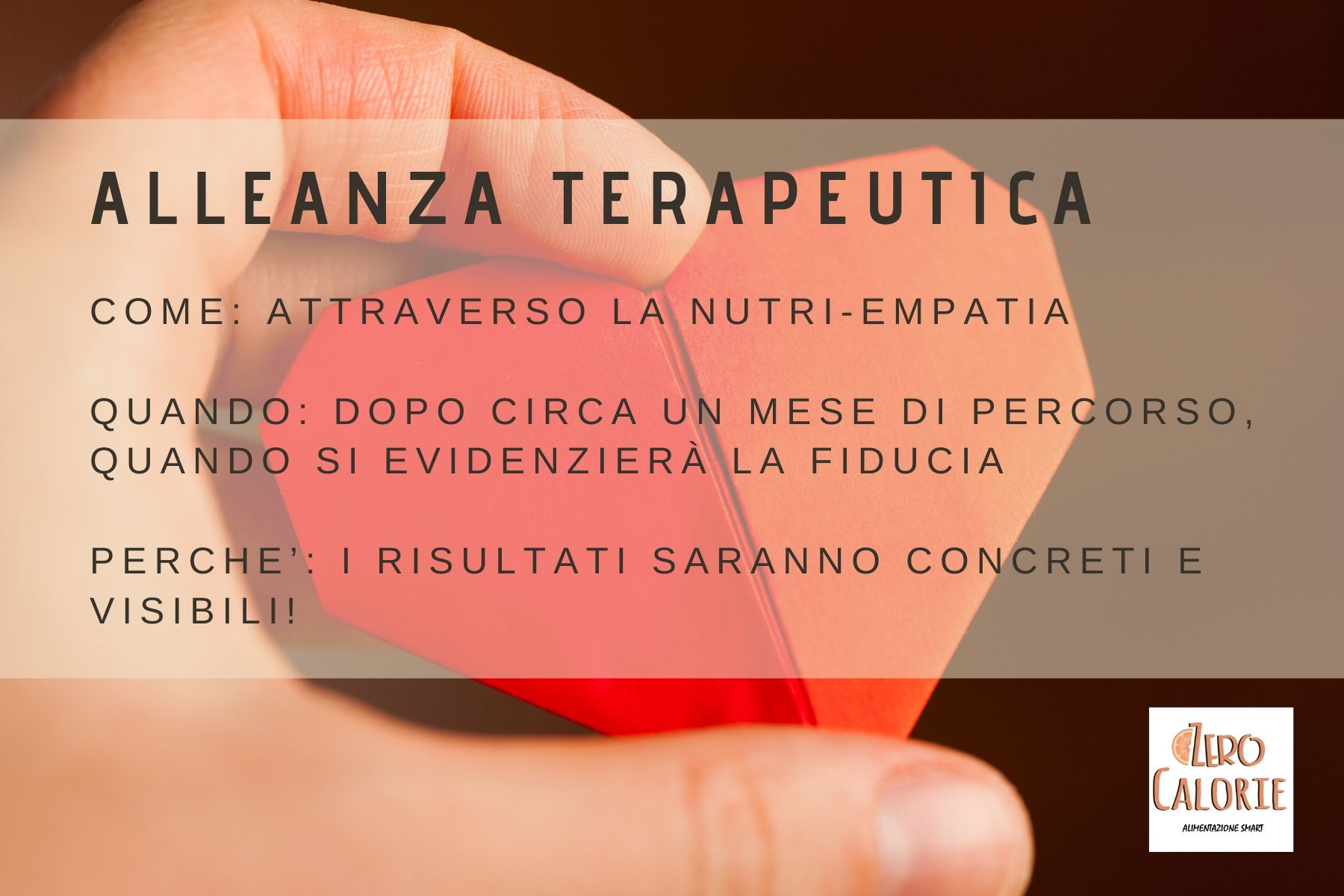 alleanza terapeutica zerocalorie